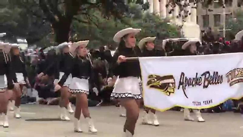 Tyler Junior College Apache Belles performing at Annual H-E-B Houston Thanksgiving Parade