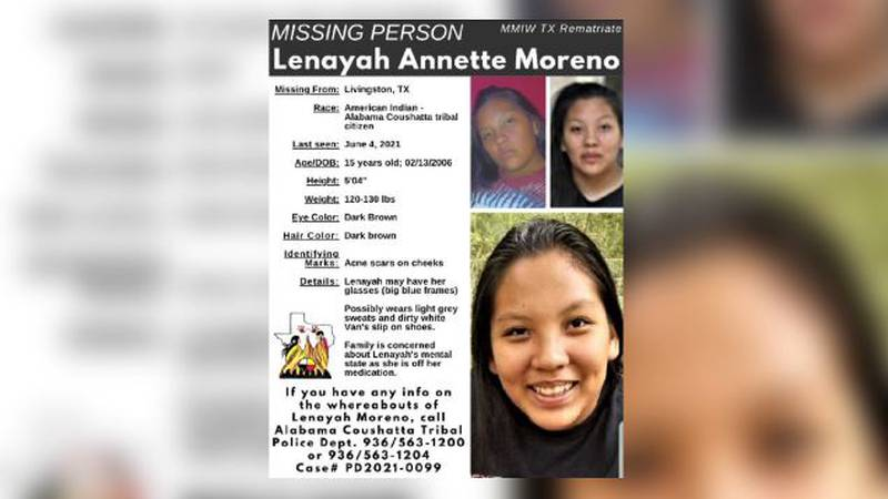 Thursday morning Alabama-Coushatta Tribal police sent out a missing person report in search of...