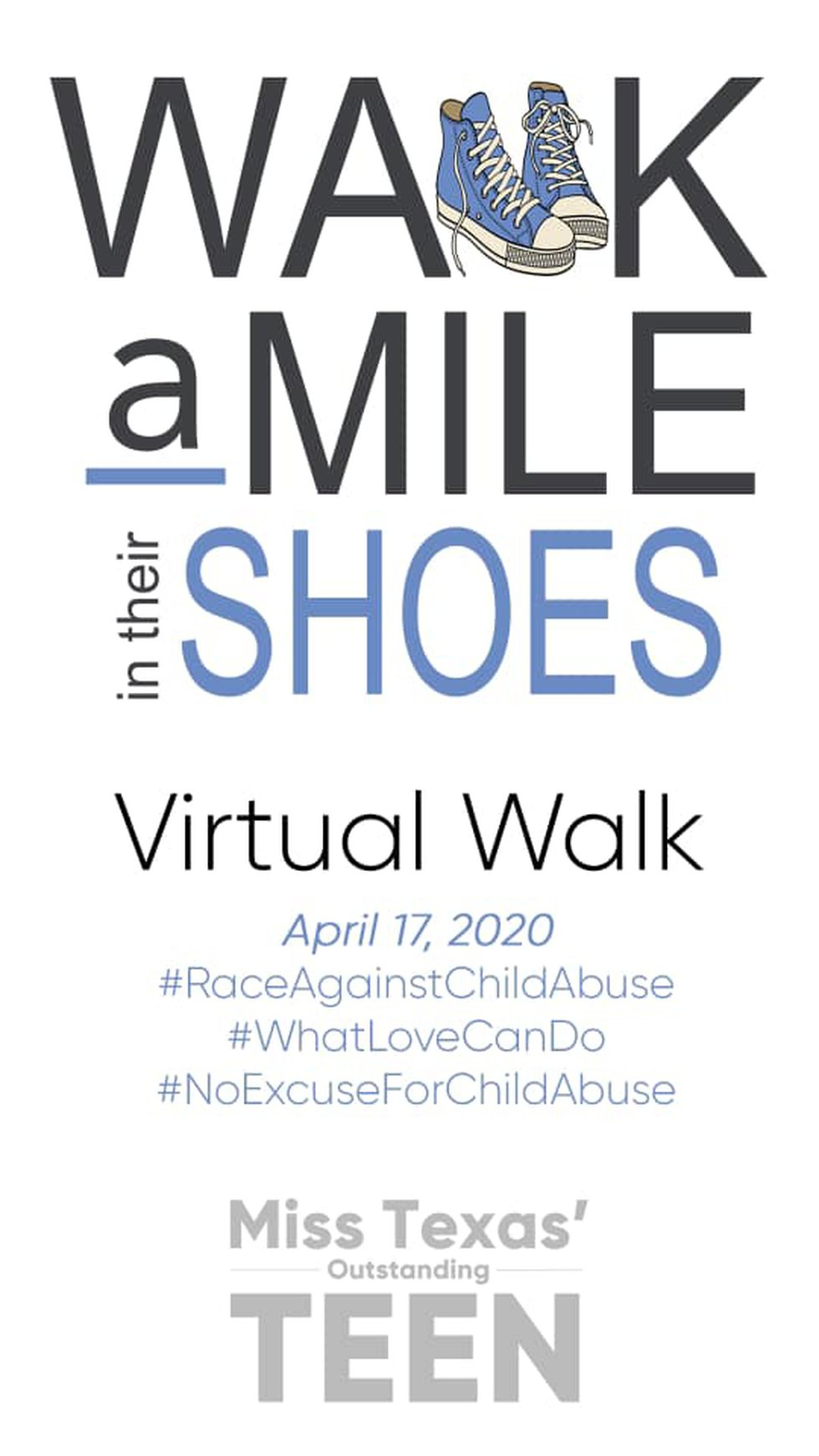 Walk A Mile in their Shoes happening Friday April 17th.