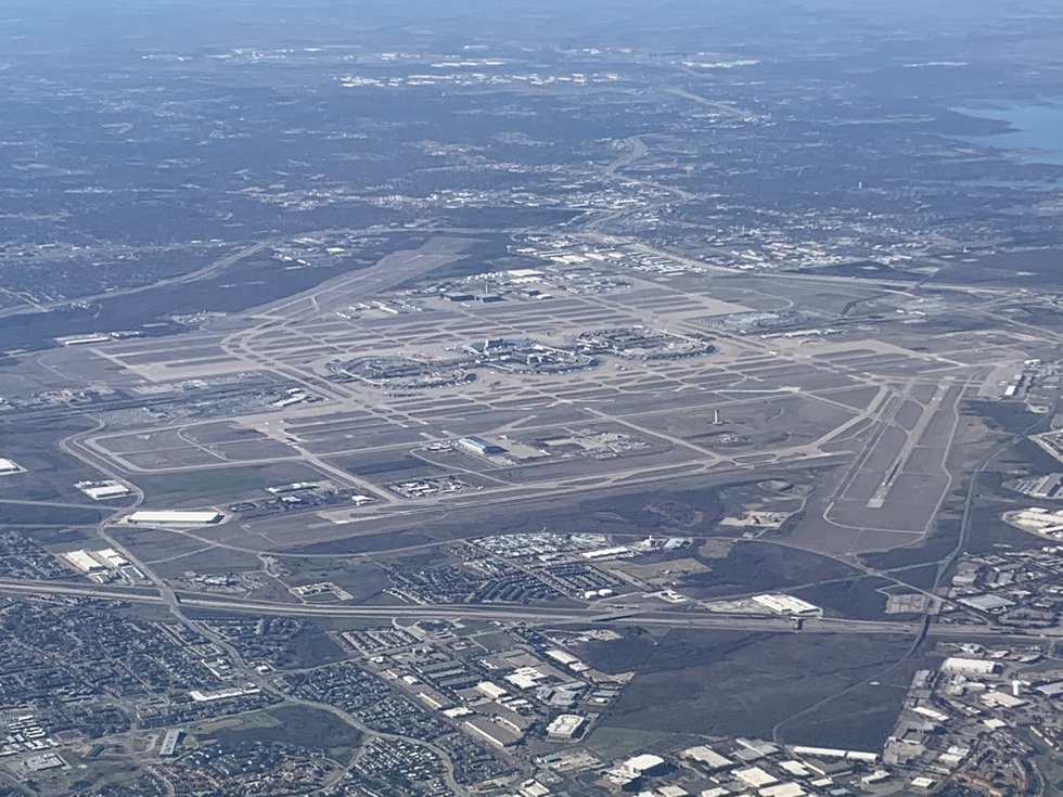 In this January 5, 2020, file photo, the five terminals of Dallas-Fort Worth International...