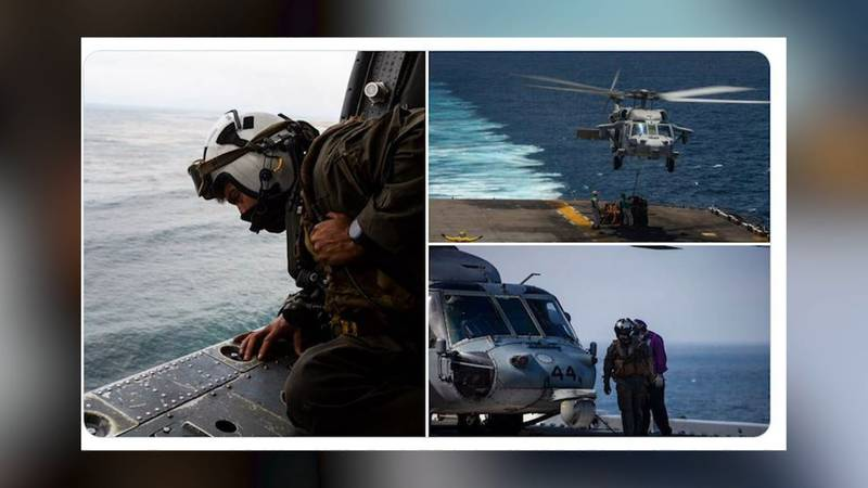 The 1st Marine Expeditionary Force said the search for eight service members feared dead...