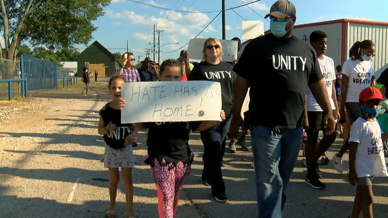 Lindale's Unity March saw hundreds gather from multiple different churches, Sunday evening.