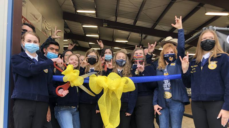 The idea started back in 2017. Future Farmers of America, FFA, members wanted a barn on school...