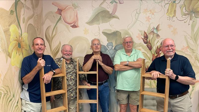 Woodworkers of East Texas who donated hand-made ladders to East Texas Crisis Center.