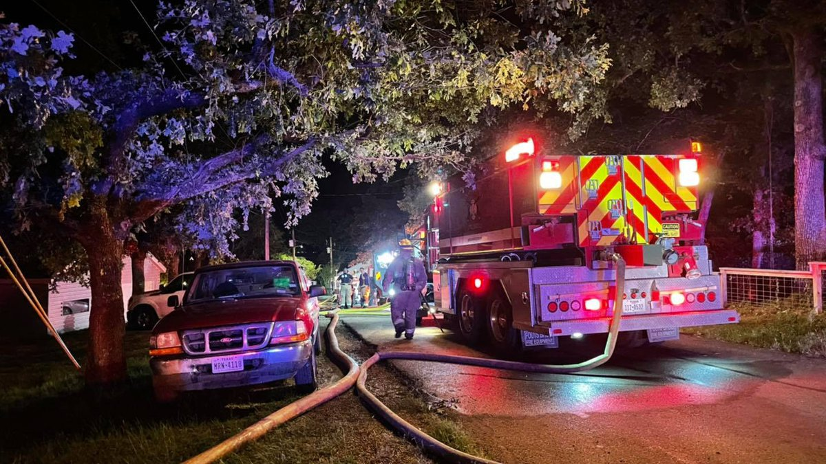 Multiple Henderson County fire departments battled structure fires at a property in Tool...