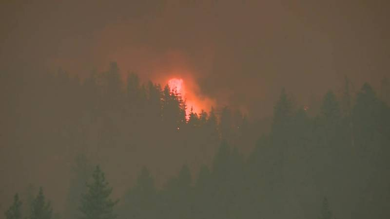 Residents prepare to evacuate as another wildfire grows in California. (Source: KCRA via CNN...