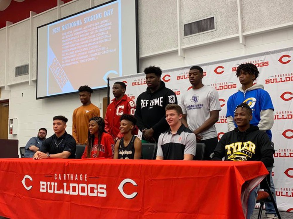 Carthage Bulldogs commit to their future schools on National Signing Day 2020.