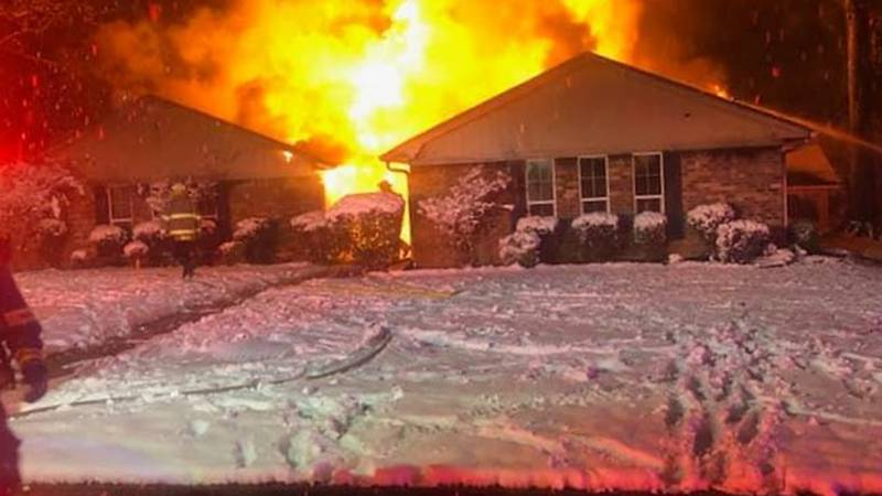 A man was killed in a house fire on Sherman Drive in Marshall, Texas on Monday, Jan. 11, 2021.