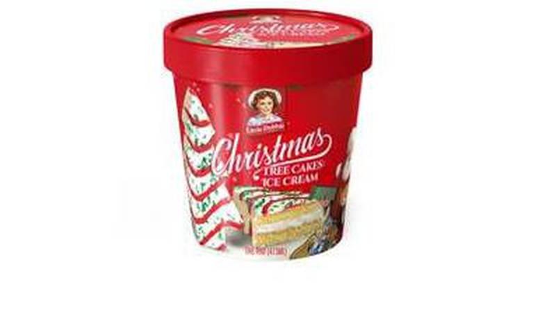 Little Debbie Christmas Tree Cakes ice cream