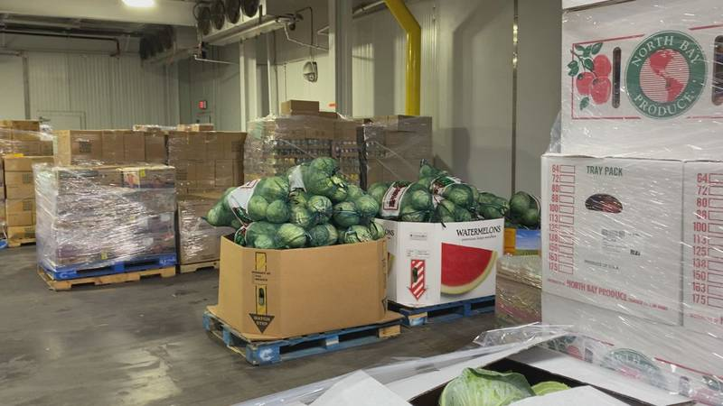 Food banks still in high demand and families are continue struggling with food shortage.