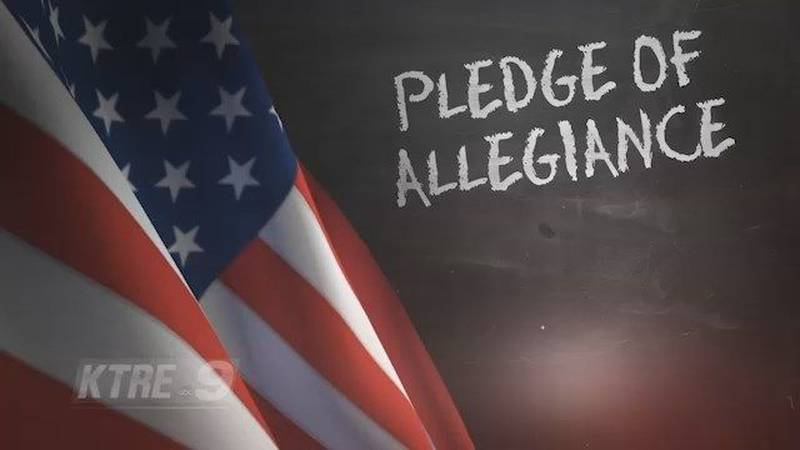 Real Graphics Staff Recites Pledge of Allegiance