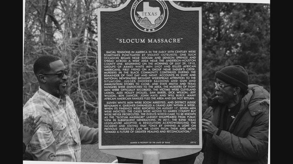 Slocum Massacre Historical Marker