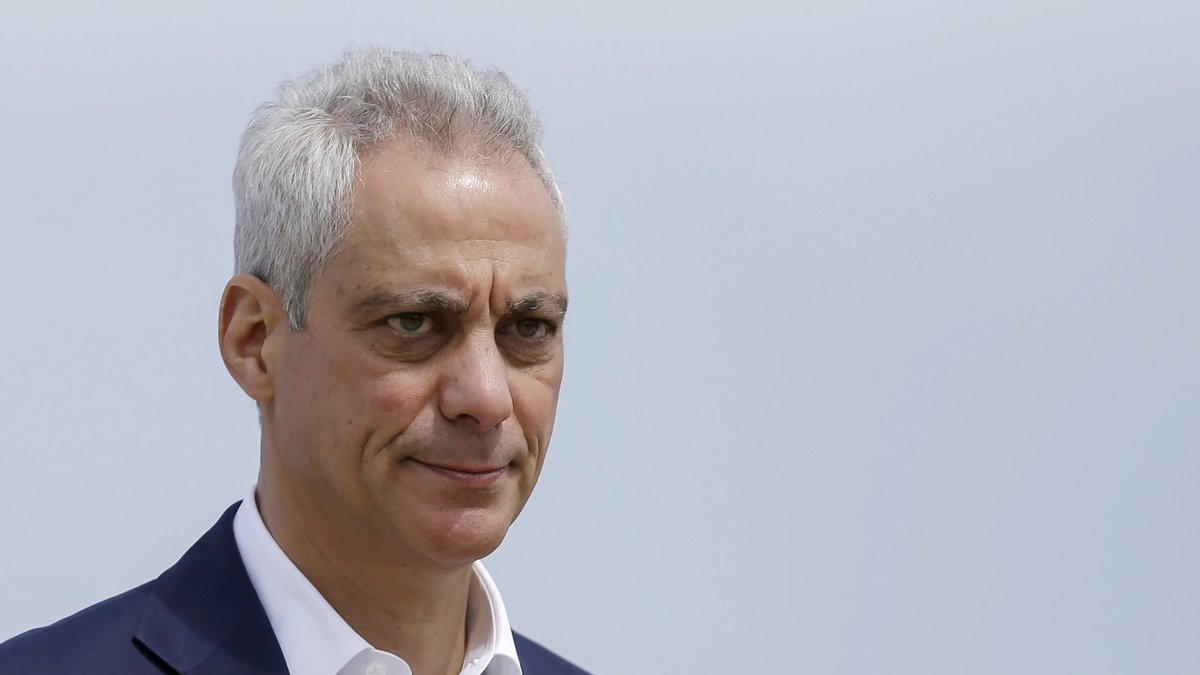 FILE - In this April 22, 2019, file photo, Chicago Mayor Rahm Emanuel waves as he arrives at a...