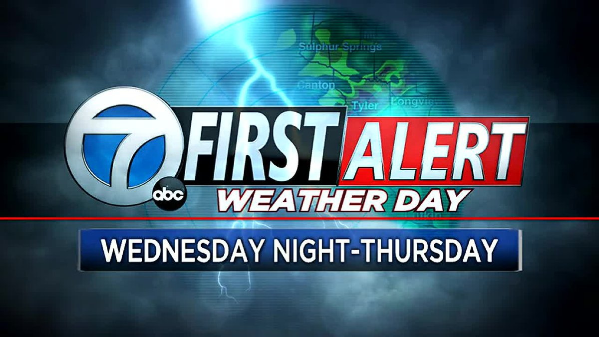 First Alert Weather Day For Very Late Wednesday Night/Thursday for Laura's Impacts.