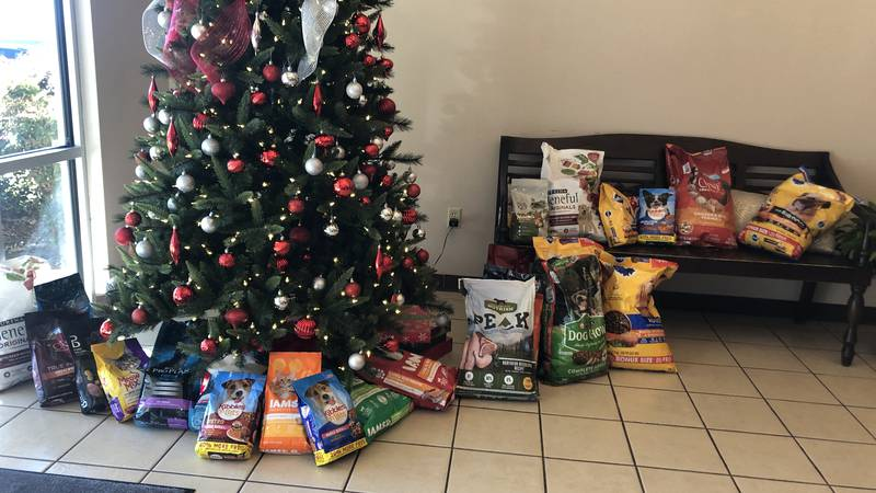 For its 5th year, Therapet Animal Assisted Therapy in Tyler donated over 500 pounds of dry dog...