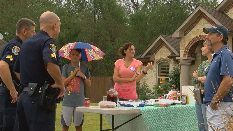 Longview Police officers, community members attend party for National Night Out in this file...