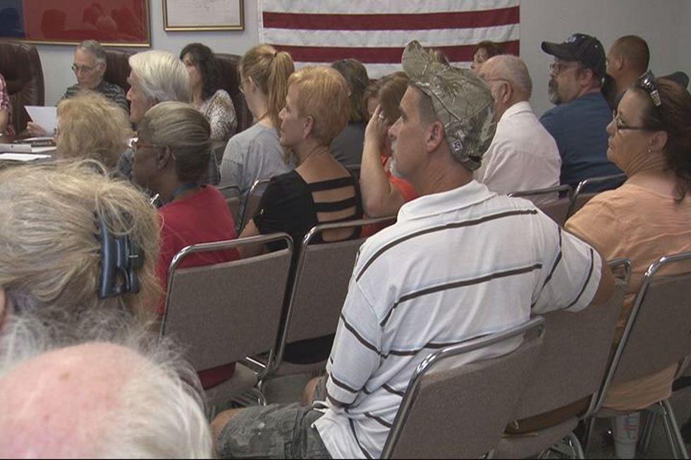 Hawkins city council meeting on Monday night. (Source: KLTV staff)