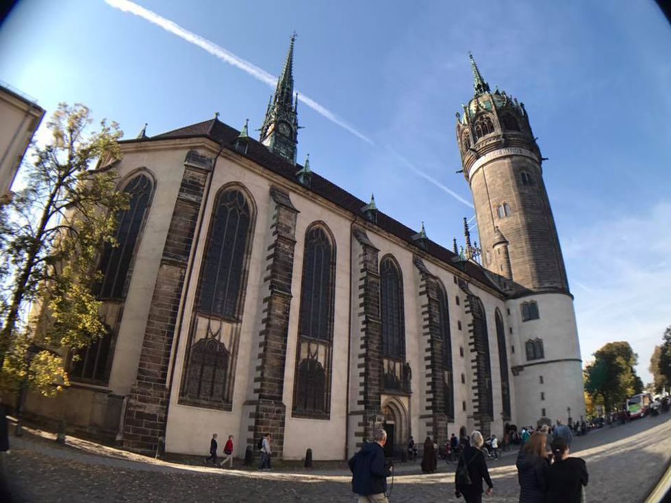 Martin Luther is said to have posted his 95 theses to the door of Castle Church on Oct. 31,...