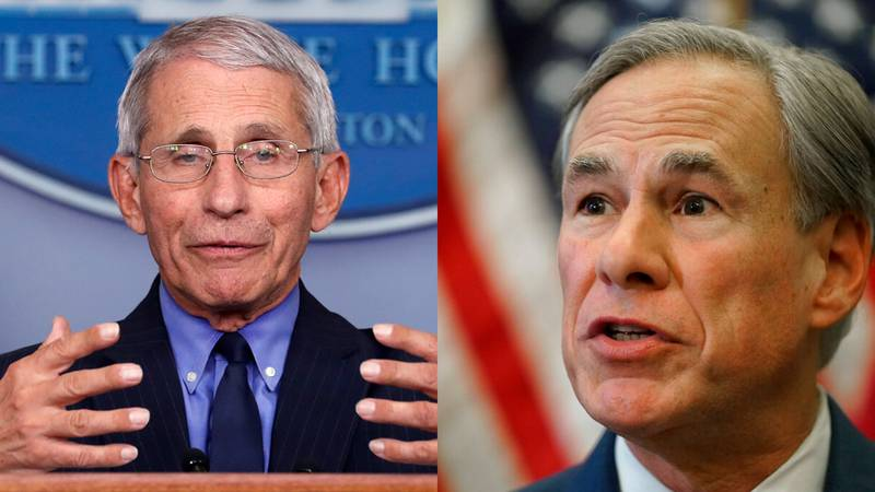 Dr. Anthony Fauci and Texas Governor Greg Abbott