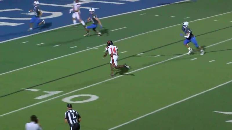 WATCH: Gilmer's Kendal Jackson catches pass and runs it in for 23-yard score against Spring Hill
