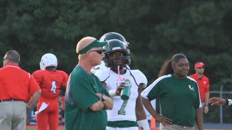 Tyler Legacy's Coach Tim Johnson and retired Coach Chris Lashley