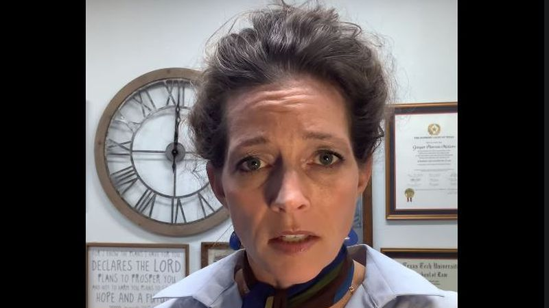 Amarillo Mayor Ginger Nelson addresses the city about the rapid surge in COVID-19  cases in...