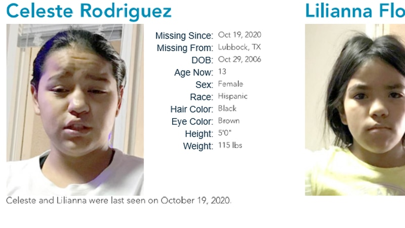 Celeste and Lilyana are believed to be with their mother, Christina Rodriguez (Source: National...