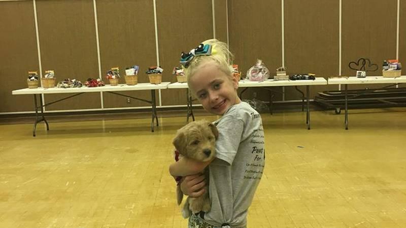 Dani Miller and her dog Yankee.