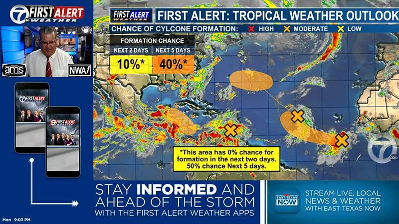 3 areas of concern in the tropics that we are watching.