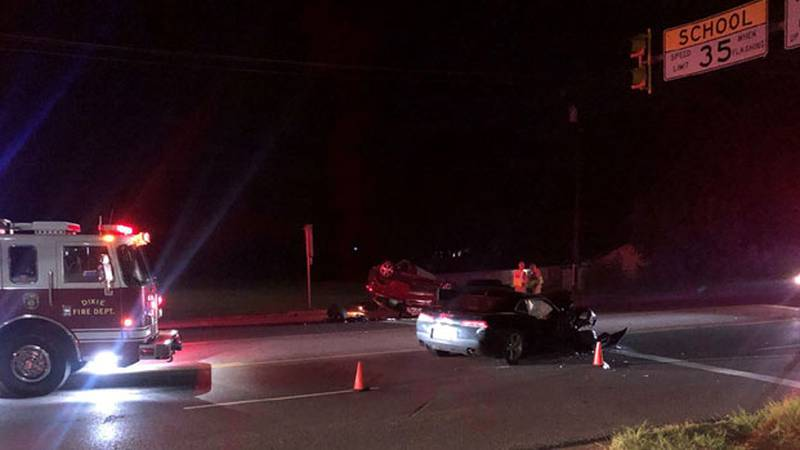 Three people were injured in a two-vehicle head-on collision on State Highway 64 in Smith...
