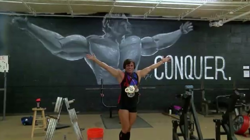 Teri Ivey, a special education teacher in Jacksonville who also competes in powerlifting, poses...
