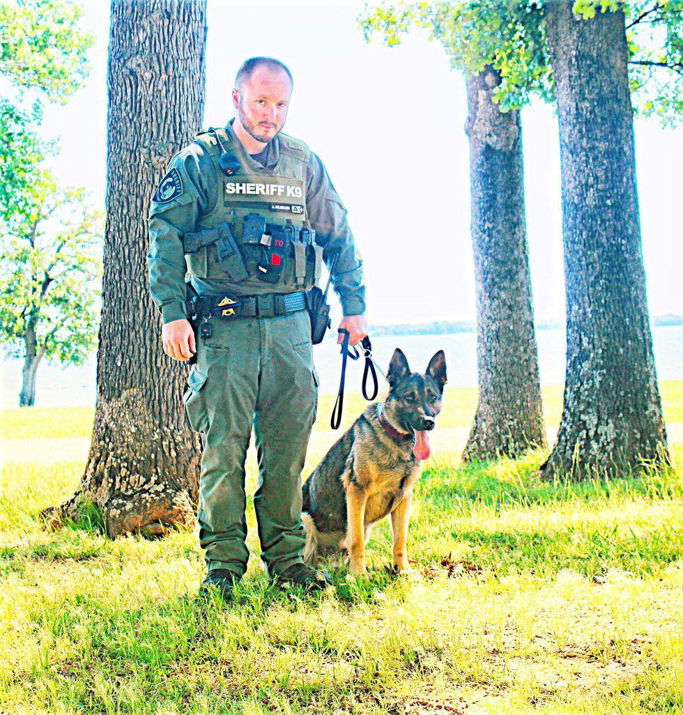 Sgt. Austin Milbourn and K9 Jois