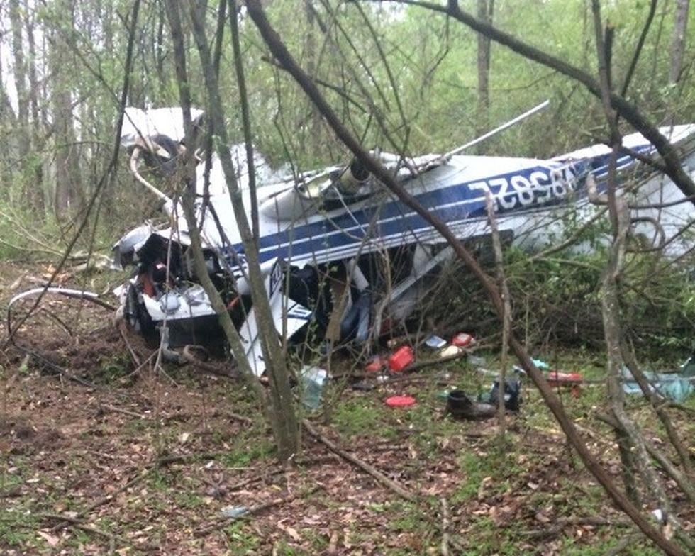 Single engine plane crash near Eastside Airport in Longview. (Source: KLTV viewer)
