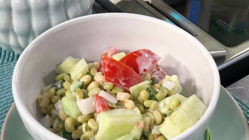 Refreshing salad with farmers market ingredients