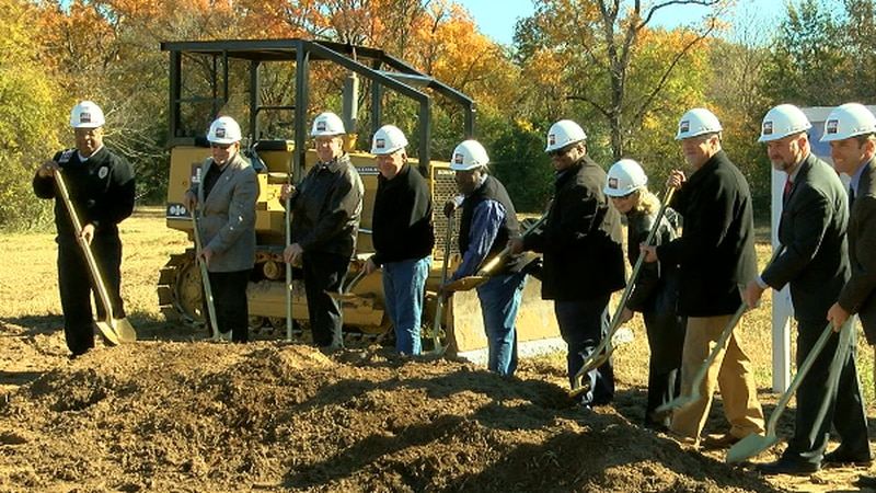 Tyler officials break ground on two new fire stations.