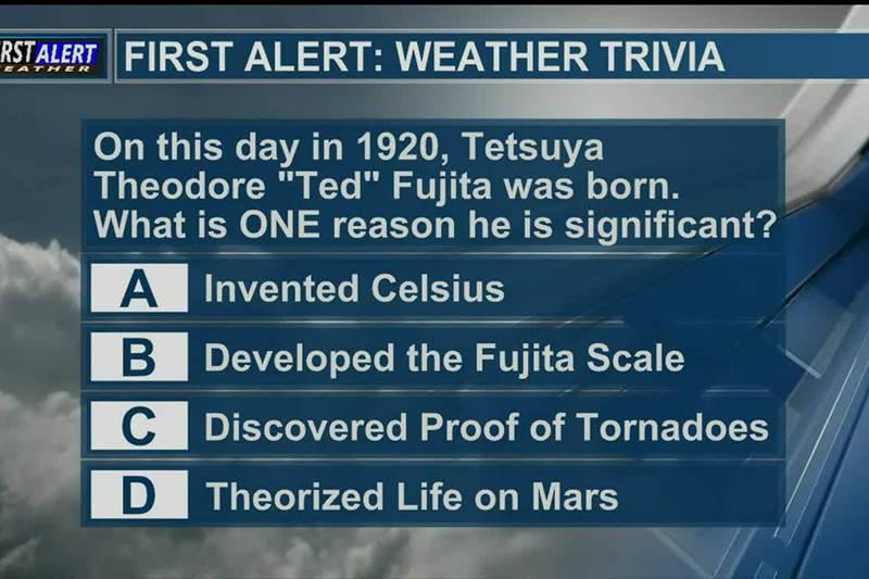 Saturday Weather Trivia 10-23-21