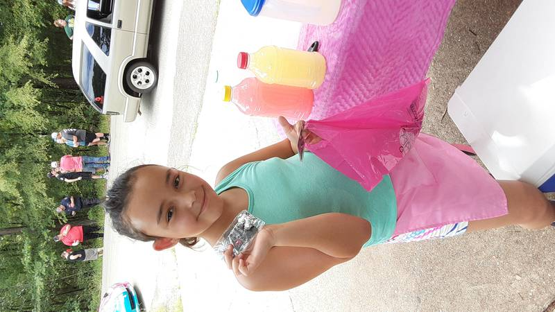 Dejia Bryant saw a sucessful day of lemonade sales on Sunday.