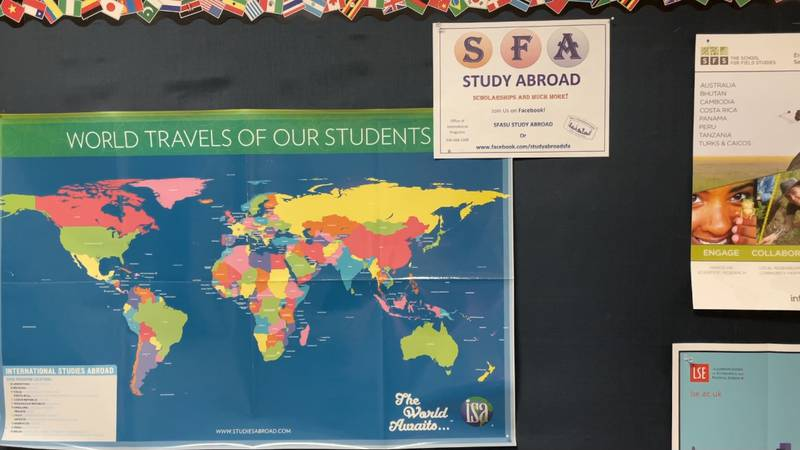 Number of SFA students studying abroad has decreased