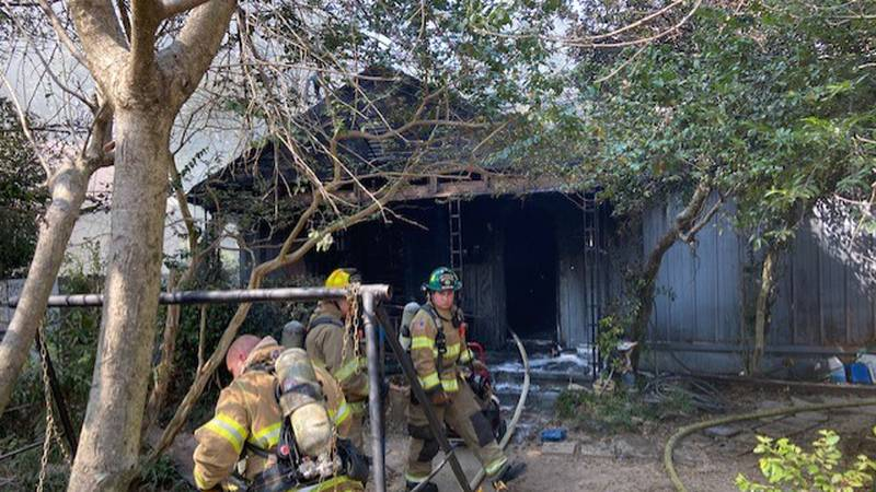 Fire at home on Travis Avenue