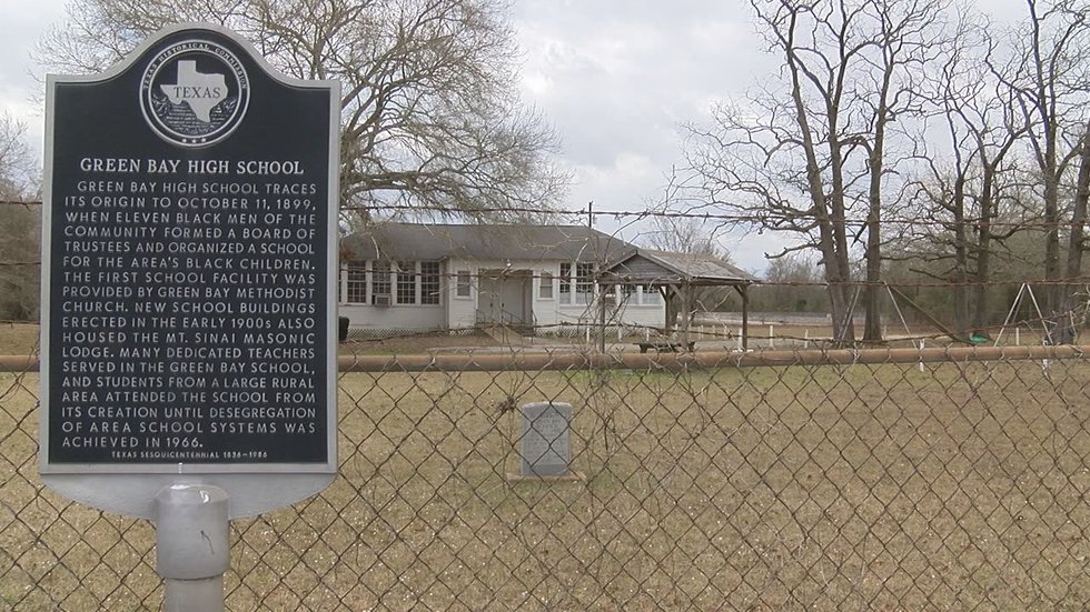 Green Bay High School historical marker.