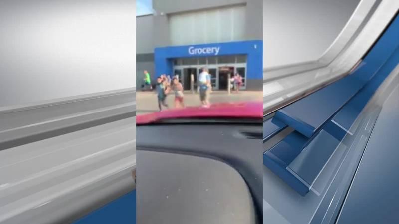VIEWER VIDEO: Customers flee Tyler Walmart after reports of gunshots (Source: Joel Alvarado)