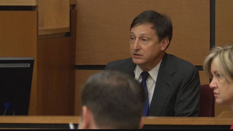 Gregg County Commissioner Darryl Primo testified on Wednesday. (Source: Pool camera)