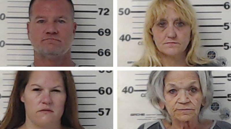 Bradley Winkles, Brenda Ivey, Melissa Garland and Alvina Warren. Not pictured is Kimberly Venn.