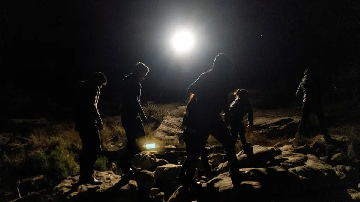 Asylum-seeking migrant families surrendered themselves to the U.S. Border Patrol, after...