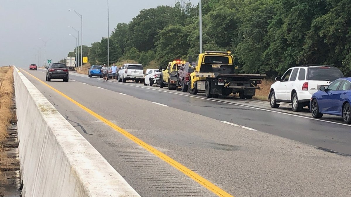 A multi-vehicle crash has the eastbound lanes of Interstate 20 shutdown near the Smith/Van...
