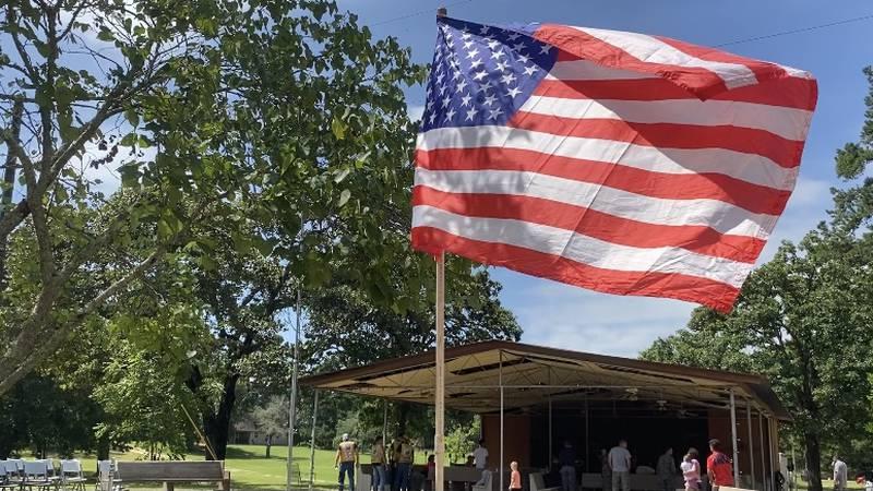 Nonprofit Organization hosts flag ceremony