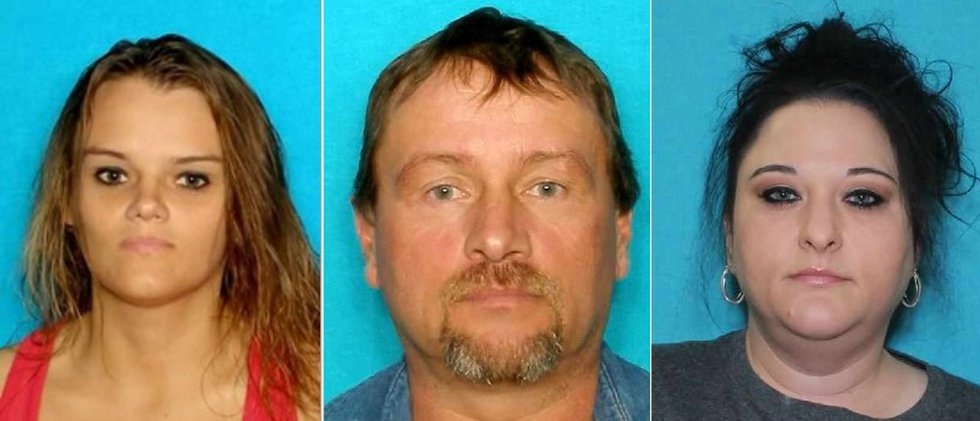 From left, Cynthia Hodges, Jimmy Hodges and Francis Hodges are all wanted for the illegal...