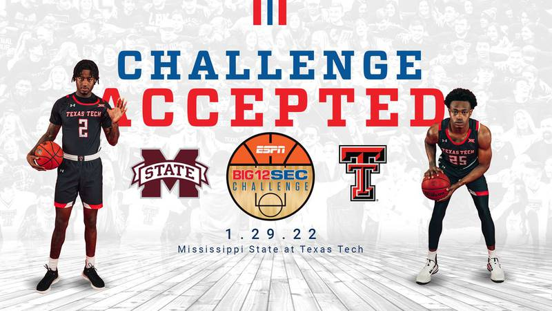 Red Raiders to Host Mississippi State in Big 12/SEC Challenge