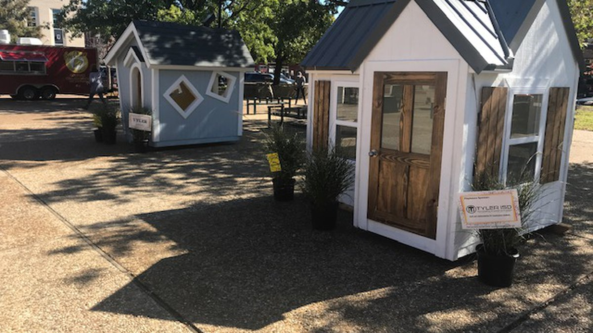 The Numerous playhouses of all types, shapes, and sizes are on display in Tyler's downtown...