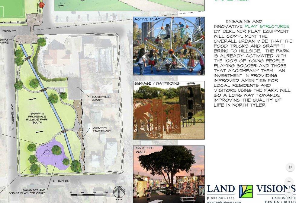 City plan features graffiti promenade, food truck alcoves at Hillside Park